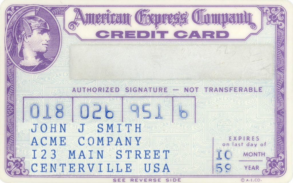 American Express card from 1959